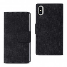 Apple iPhone X Denim Wallet Case