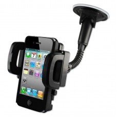 Cell Phone Universal Suction Glass Window Phone Holder In Black