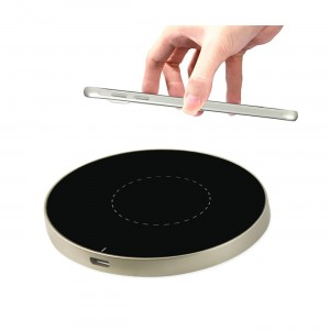 Cell Phone Dual Color Wireless Charging Qi Pad In Black