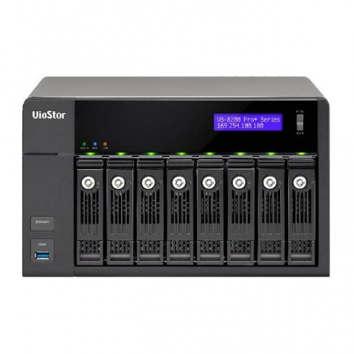 Cloud Monitor QNAP VS-8224-PRO+-US Intel Core i3-4150 3.5GHz 8-Bay Tower NVR  System 24 Cameras for SMB