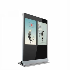 LCD Display Indoor Floor Standing Double LCD Advertising Player