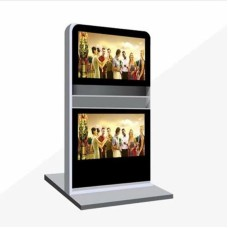 LCD Display Indoor Floor Standing Double Up and Down LCD Advertising Player