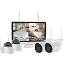 Security 4 CH 2MP  Wireless LCD COMBO Kit
