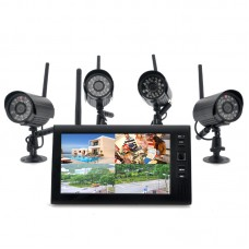 Spy Wireless 7 Inch DVR with 4 IP Cameras Kit Retail Box