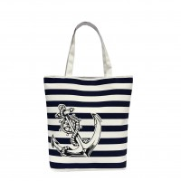 FC0030 - Paris Eiffel Tower Print Toto Bag (48pcs per case)  Blue