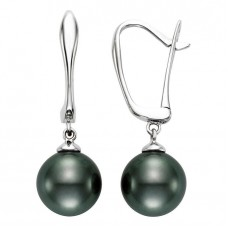 Jewelry Earring Tahitian 9-10mm Pearl 14kt White Gold Earrings