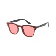 Sunglass D7490COL Unisex Plastic Small Hipster Rimless Shield Clubber Frame w/ Color Lens