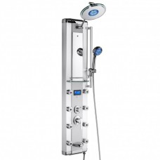 Bath 51 in. 8-Jet Aluminum Shower Panel System