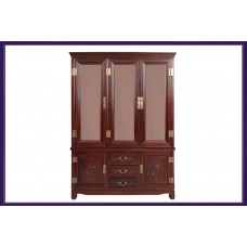 Red Wood Wine Cabinet