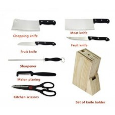 Houseware Stainless Steel 8 Piece Knife Block Set