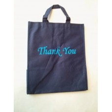 Non Woven Bag Blue with Thank You 100ct Size:12x13x7 inch