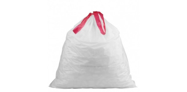 Drawstring Tras Bag White